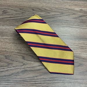 Jos A Bank Gold w/ Red & Navy Stripe Tie